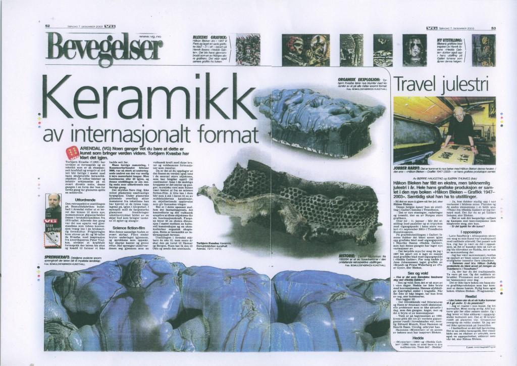 VG-oppslag 2003 Lars Elton